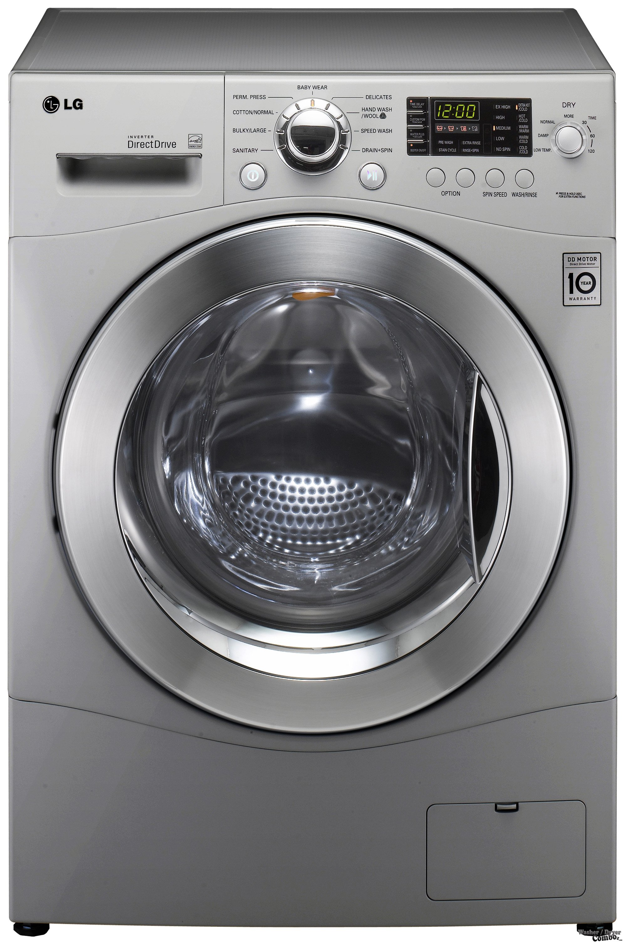Washer And Dryer In One Part - 40: LG WM3455HS Front