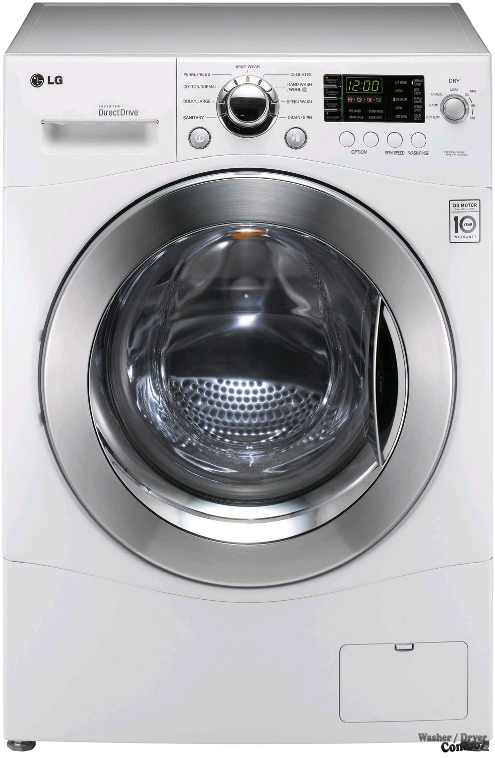 Lg all in one washer and dryer reviews - Lg Wm3455hw Front