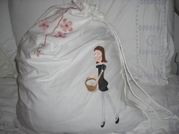 Laundry girl bag