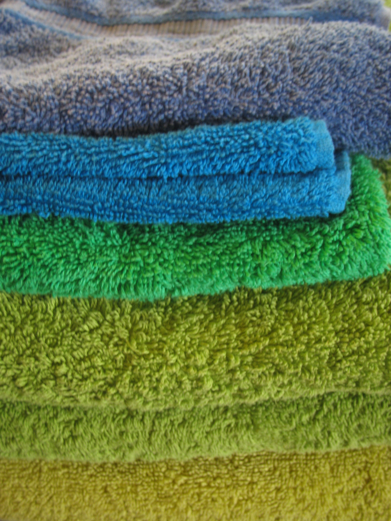 Folded towels