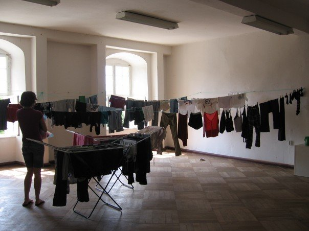 drying indoors