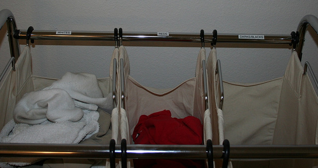 3-partition laundry sorter