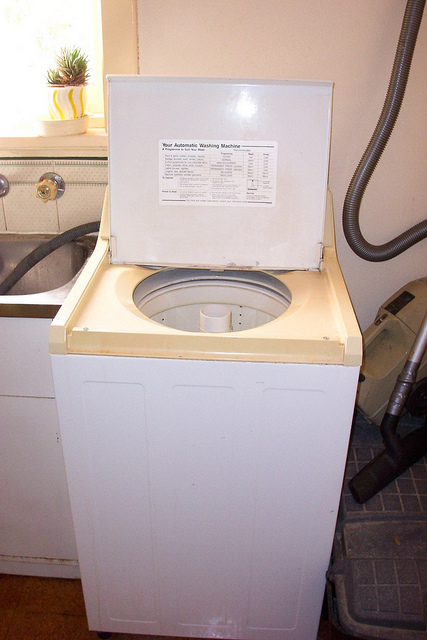 washing machine with agitator